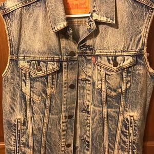 552c154a91 Levi s Jackets   Coats - Men s Blue Levi stone washed biker vest ...